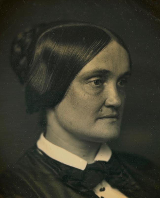 Unidentified artist (American) 'Charlotte Cushman' c. 1850 (detail)