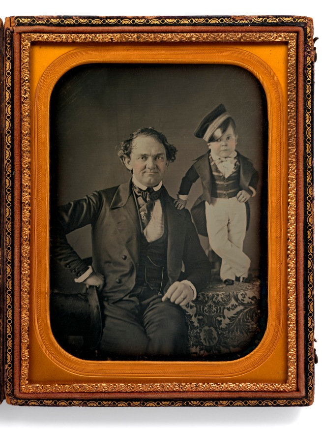 Samuel Root and Marcus Aurelius Root. 'P.T. Barnum and General Tom Thumb' c. 1850