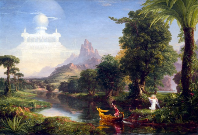 Thomas Cole (1801-1848) 'The Voyage of Life: Youth' 1842
