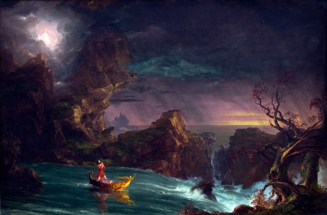 Thomas Cole (1801-1848) 'The Voyage of Life: Manhood' 1842