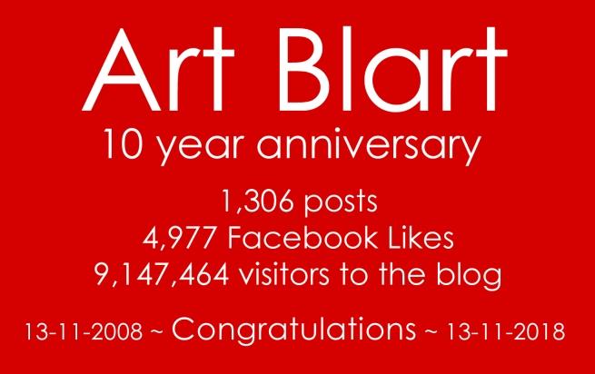 Art Blart 10 year anniversary