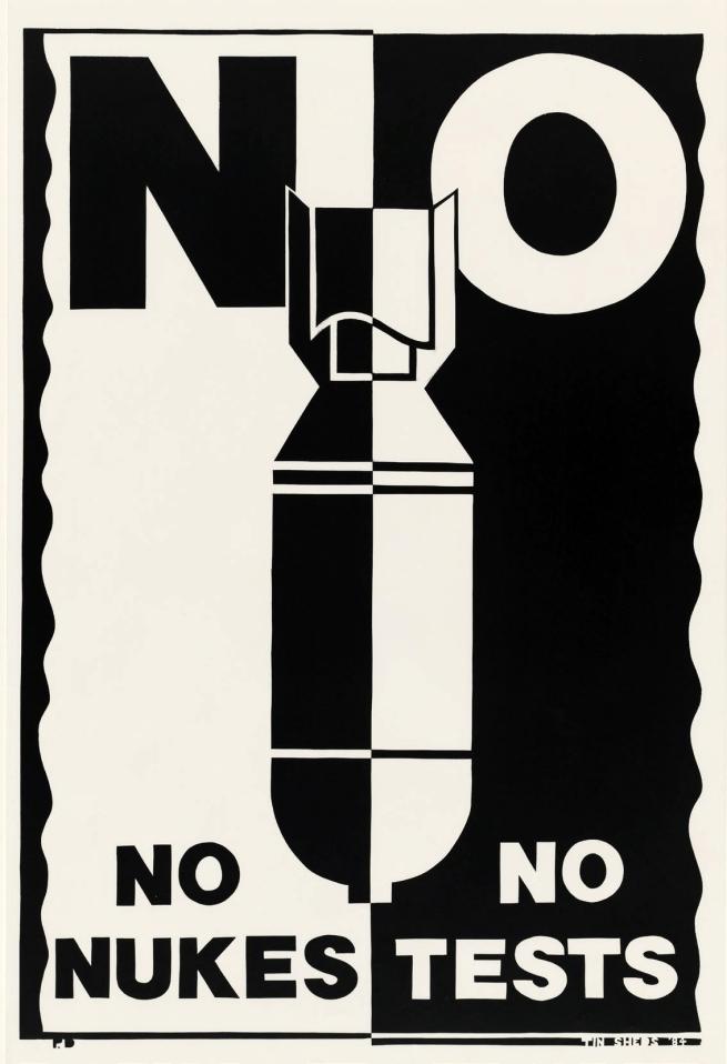 Pam Debenham. 'No Nukes No Tests' 1984