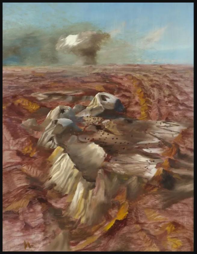 Sidney Nolan. 'Central Desert Atomic Test' 1952-57