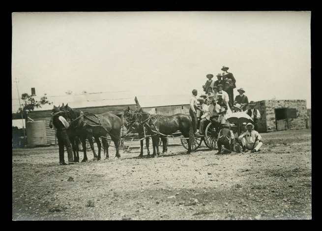 Anonymous photographer. 'Christmas guests, Poolamacca Station, north of Broken Hill, New South Wales' c. 1910