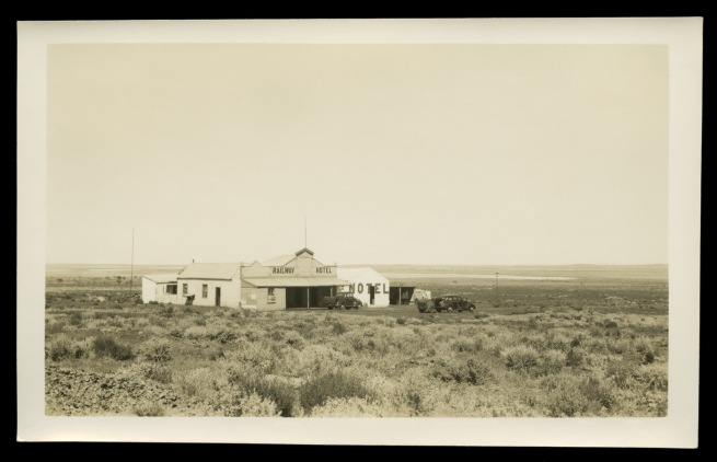Anonymous photographer. 'Railway Hotel, Lake Austin township, Murchison region of Western Australia' c. 1950