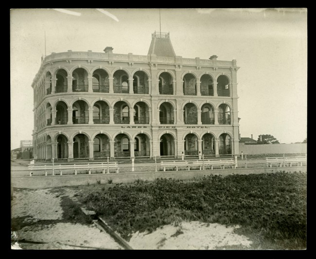 Anonymous photographer. 'Largs Pier Hotel, North-western suburb of Adelaide, South Australia' c. 1910