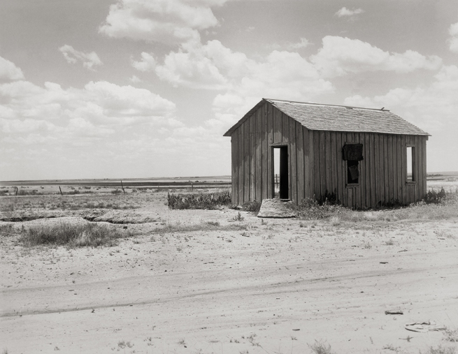 Dorothea Lange (1895-1966) 'Drought-abandoned house on the edge of the Great Plains near Hollis, Oklahoma' 1938
