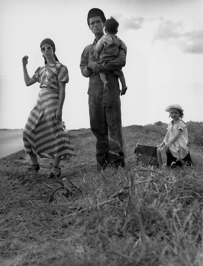 Dorothea Lange (1895-1966) 'Family on the road, Oklahoma' 1938