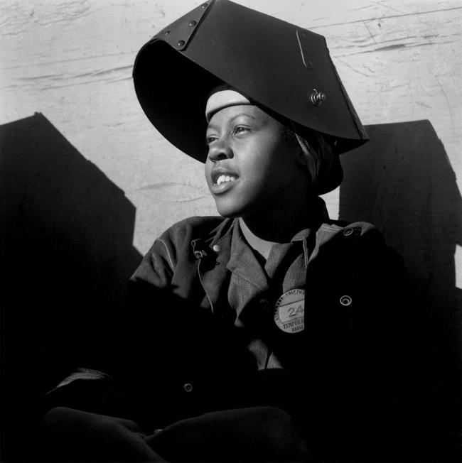 Dorothea Lange (1895-1966) 'Shipyard Worker, Richmond California' c. 1943