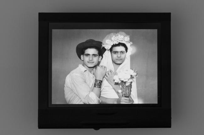 Akram Zaatari. Najm (left) and Asmar (right) 1950-1959, Lebanon, Saida. Hashem el Madani From Akram Zaatari's 'Objects of Study/The archive of Studio Shehrazade/Hashem el Madani/Studio Practices' 2014