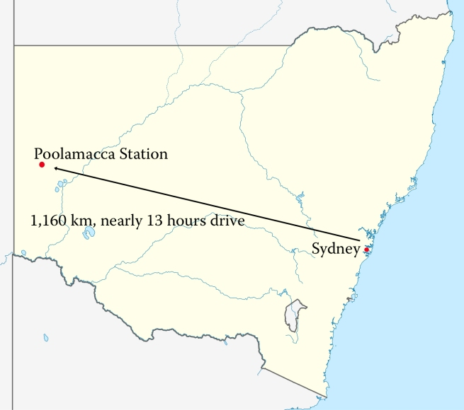 Sydney Poolamacca map