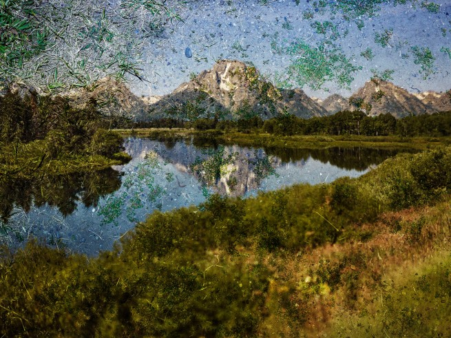 Abelardo Morell (American (born in Cuba, 1948)) 'Tent‑Camera Image on Ground: View of Mount Moran and the Snake River from Oxbow Bend, Grand Teton National Park, Wyoming' 2011