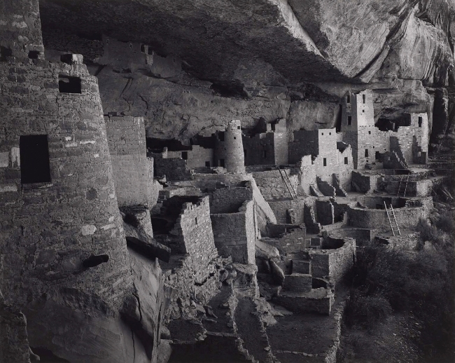 Ansel Adams (American, 1902-1984) 'Cliff Palace, Mesa Verde National Park, Colorado' 1941