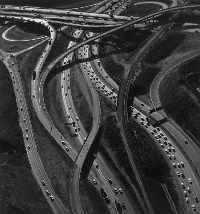 Ansel Adams (American, 1902-1984) 'Freeway Interchange, Los Angeles' 1967