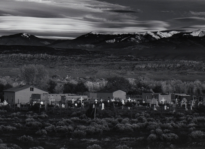 Ansel Adams (American, 1902-1984) 'Moonrise, Hernandez, New Mexico' 1941 (detail)