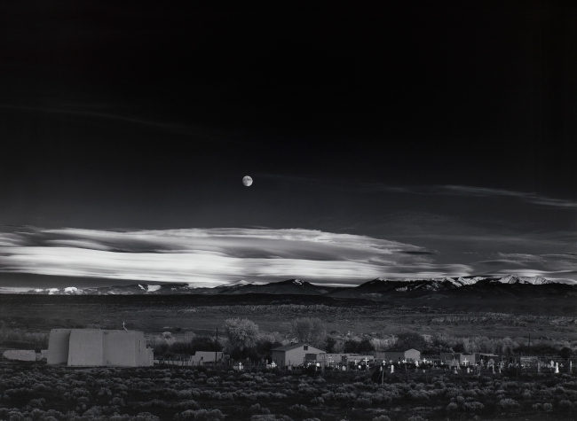 Ansel Adams (American, 1902-1984) 'Moonrise, Hernandez, New Mexico' 1941