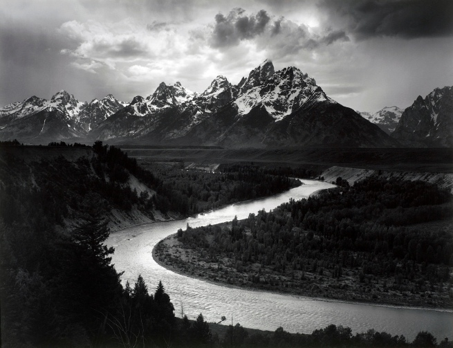 Ansel Adams (American, 1902-1984) 'The Tetons and Snake River, Grand Teton National Park, Wyoming' 1942