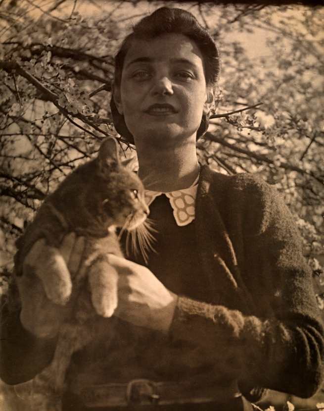 Photographer unknown. 'Untitled (Klytie Pate and cat)' c. 1930