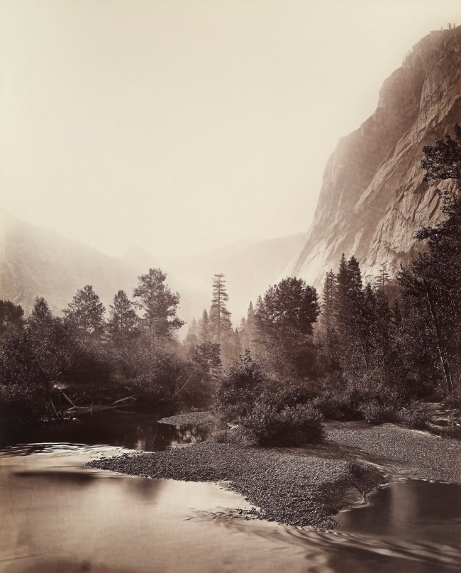 Carleton E. Watkins (American, 1829-1916) 'Mount Starr King and Glacier Point, Yosemite, No. 69' 1865-66