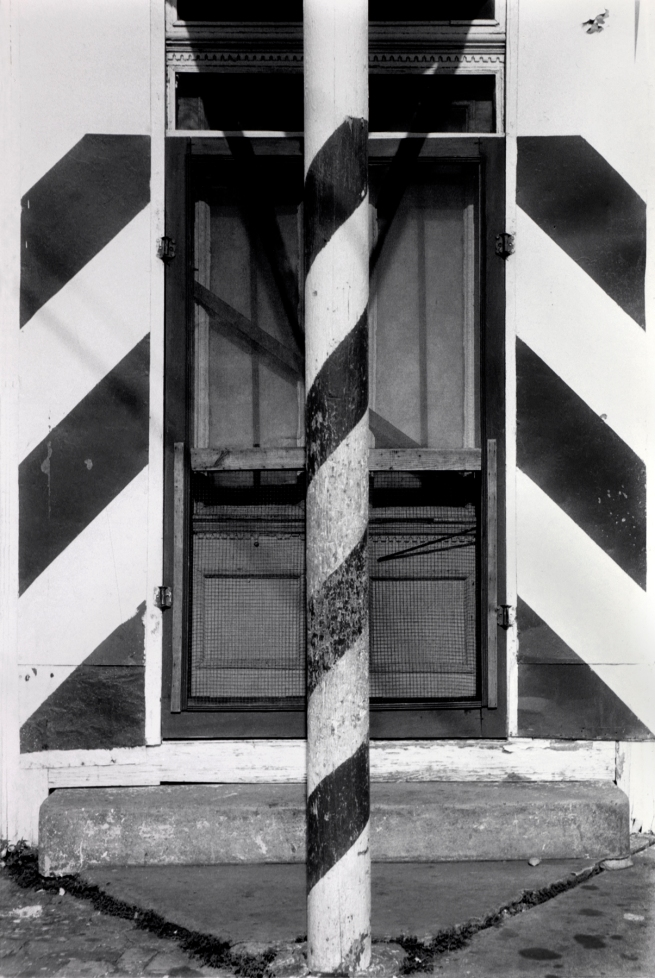 Ralston Crawford (American 1906-1978) 'Door with Striped Pole and Striped Wall, New Orleans' 1967
