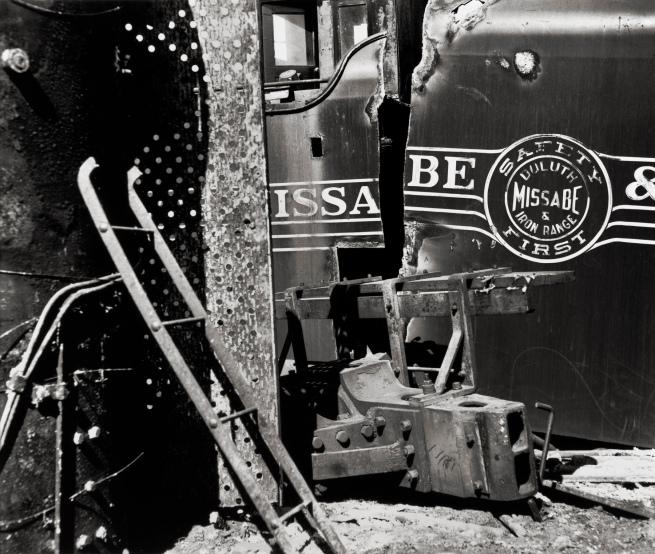 Ralston Crawford (American 1906-1978) 'Duluth Rail Yard Scrap' 1961