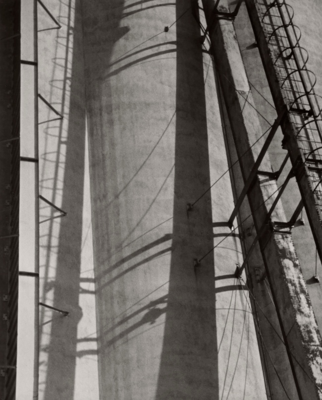 Ralston Crawford (American 1906-1978) 'Grain Elevators with Shadows' c. 1942