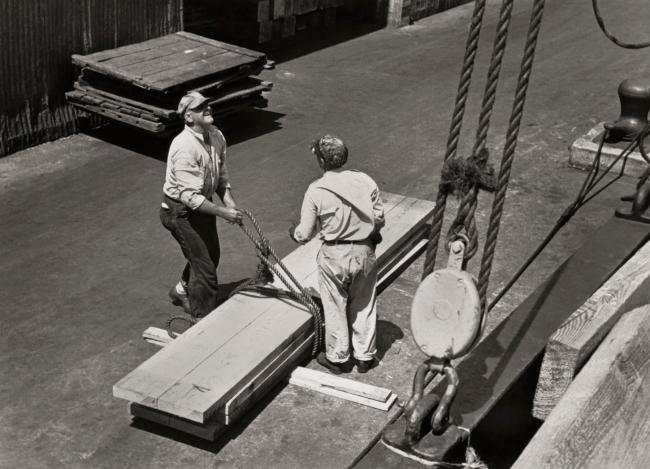 Ralston Crawford (American 1906-1978) 'Dock Workers' 1938