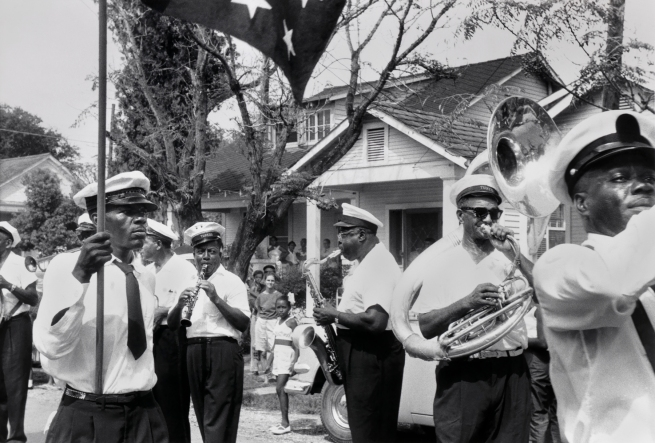 Ralston Crawford (American 1906-1978) 'Tuxedo Brass Band, New Orleans' 1959