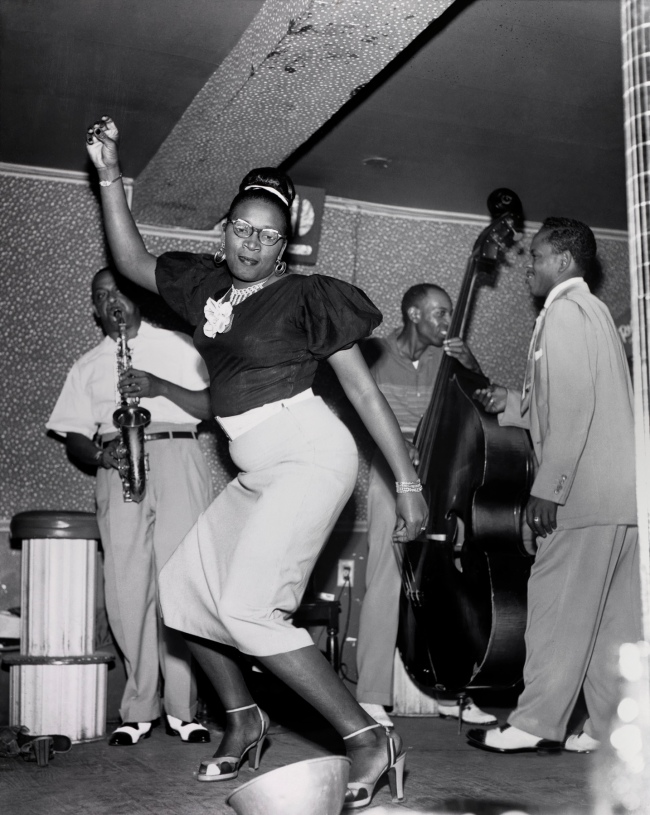 Ralston Crawford (American 1906-1978) 'Dancer and Meyer Kennedy at the Caravan Club, New Orleans' 1953