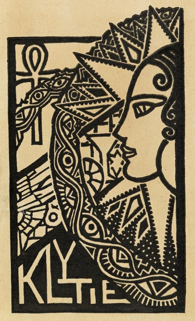 Christian Waller(Australian, 1894-1954) 'Ex Libris: Klytie' c. 1932