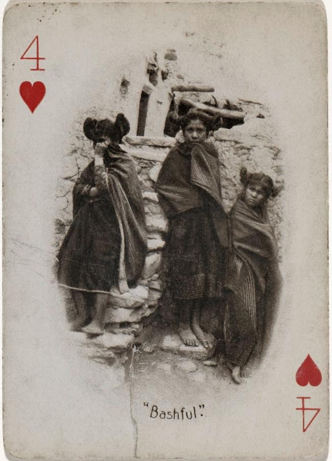Adam Clark Vroman. 'Four of Hearts (Bashful)' c. 1894