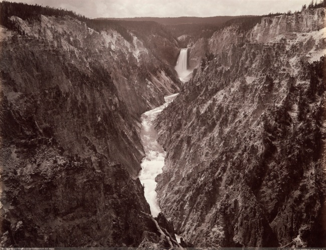 Frank Jay Haynes (American, 1853-1921) 'Grand Canyon of Yellowstone and Falls' c. 1887