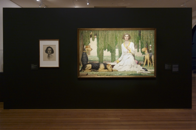 Installation view of the exhibition 'Daughters of the Sun' at Bendigo Art Gallery