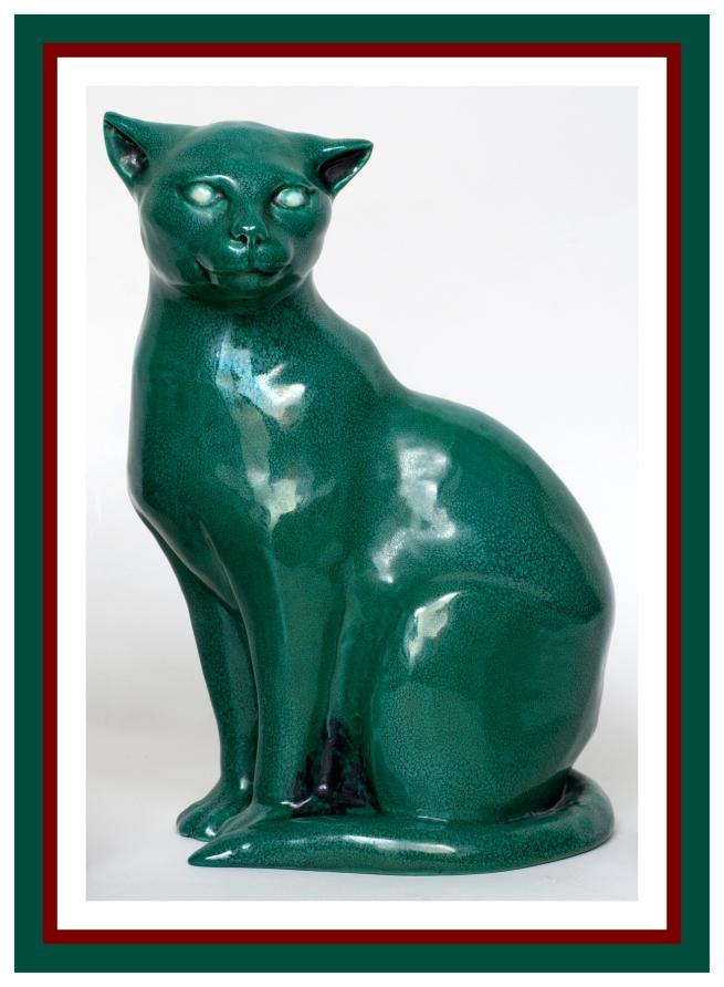 Klytie Pate(Australian, 1912-2010) 'Magnificent cat' 1980