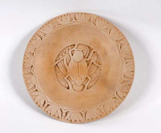 Klytie Pate (Australian, 1912-2010) 'Scarab beetle plate' c 1932