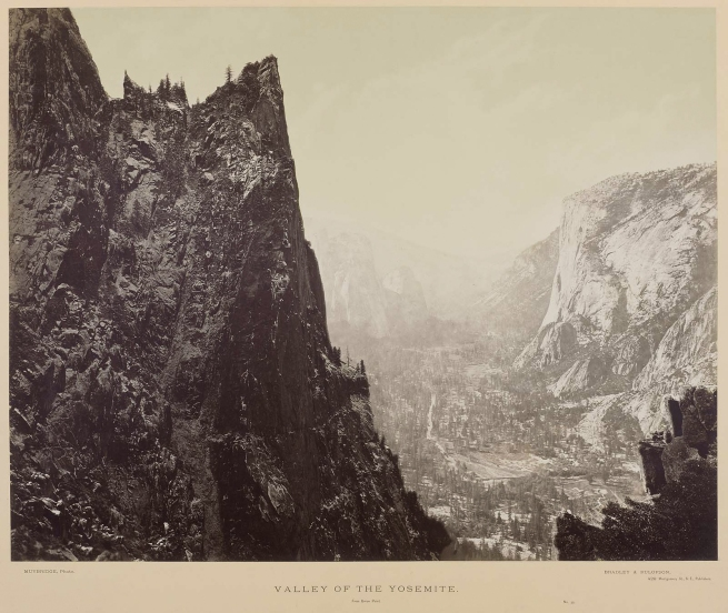 Eadweard J. Muybridge (American, 1830-1904) 'Valley of the Yosemite from Union Point, No. 33' 1872