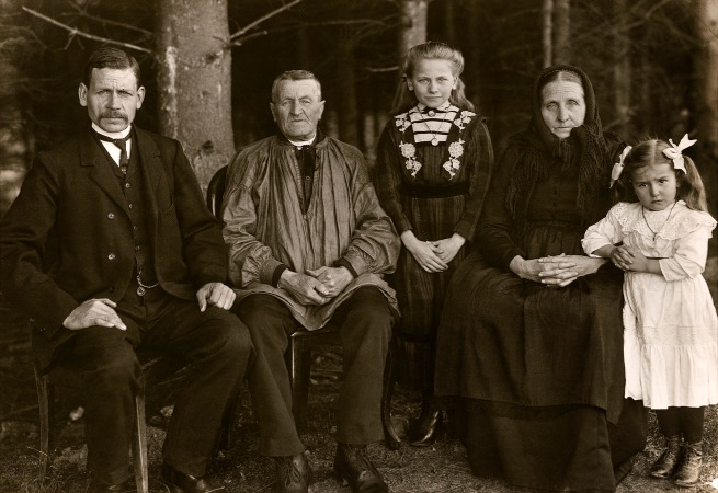 August Sander (German, 1876-1964) 'Three Generations of the Family' 1912
