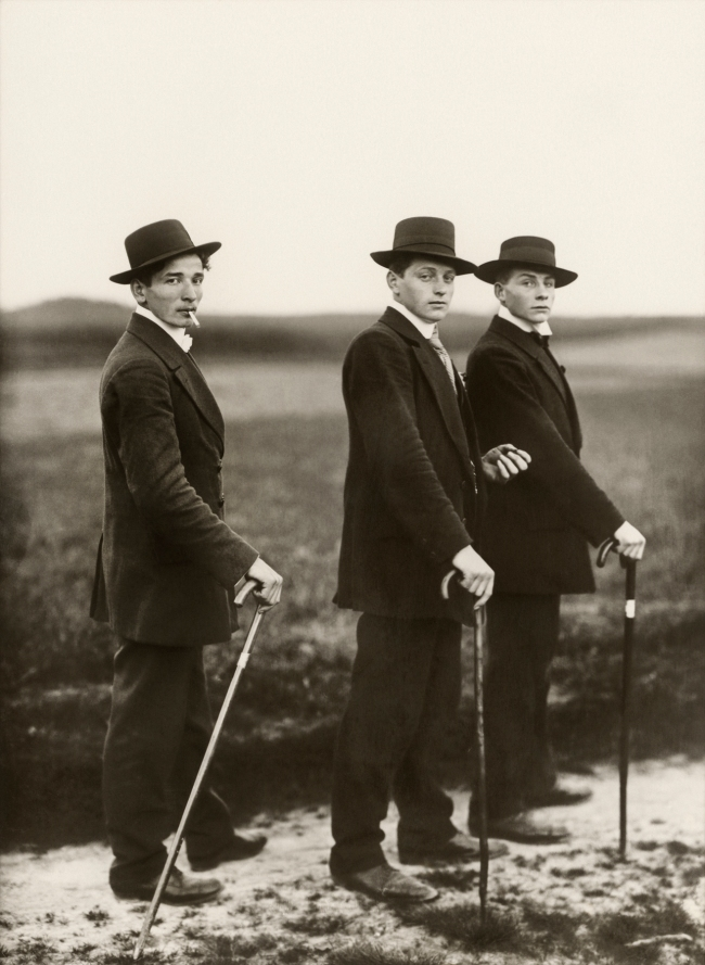 August Sander (German, 1876-1964) 'Young Farmers' 1914