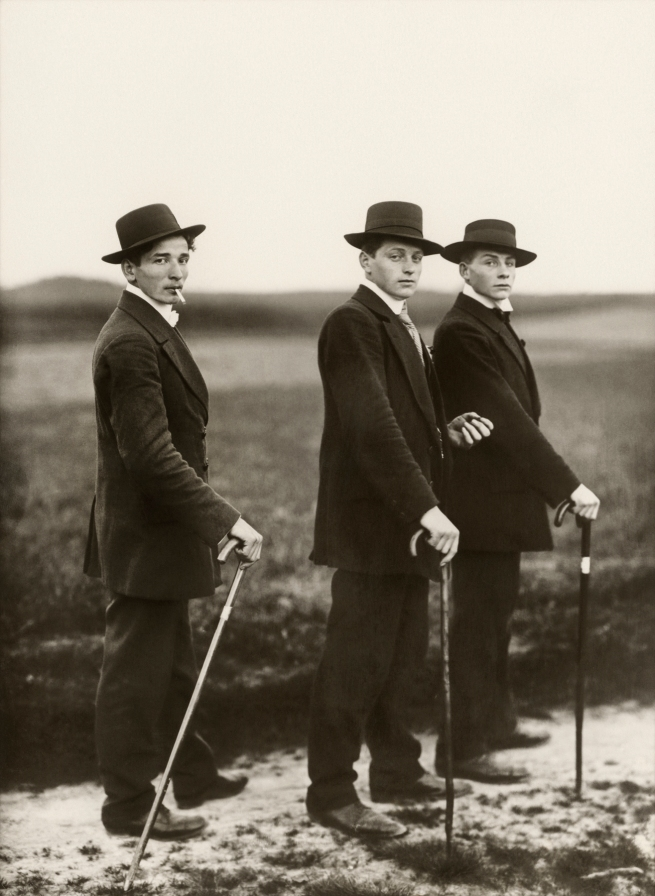 August Sander (German, 1876-1964) 'Young Farmers' 1914