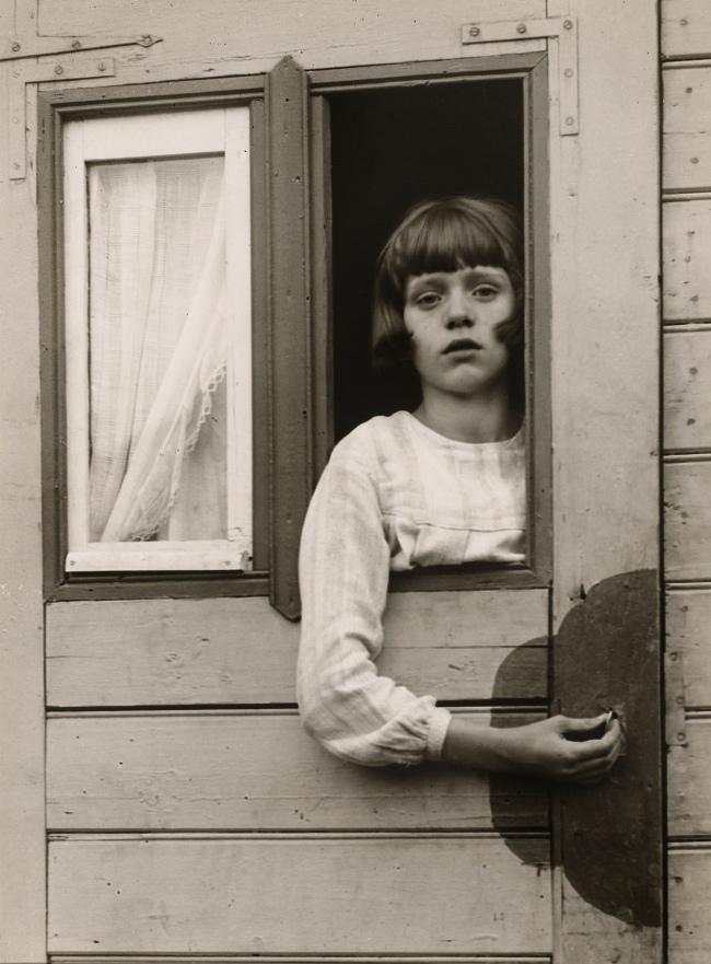 August Sander (German, 1876-1964) 'Girl in Fairground Caravan' 1926-1932