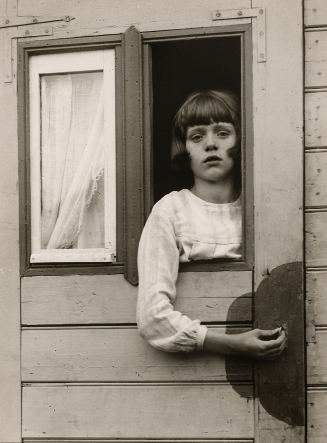 August Sander (German, 1876-1964) 'Girl in Fairground Caravan' 1926-1932