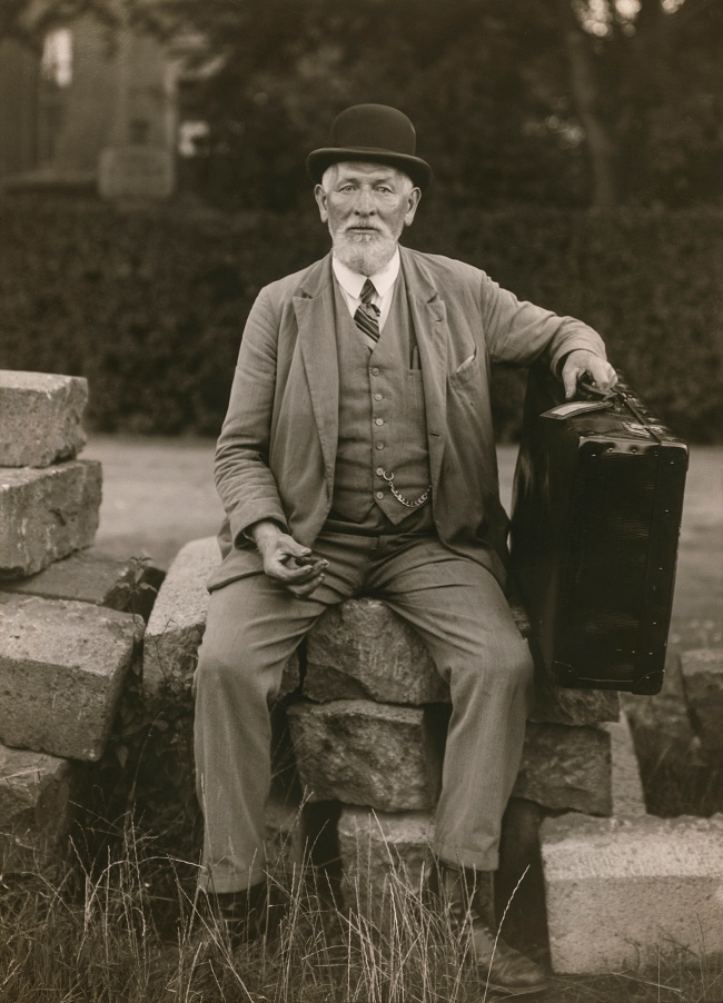 "August Sander (German, 1876-1964) '""Test your Strength"" Showman' 1930"
