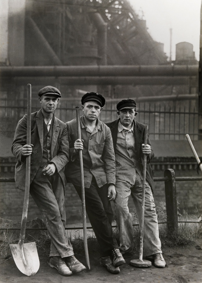 August Sander (German, 1876-1964) 'Workmen in the Ruhr Region' c. 1928