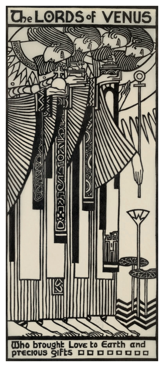 Christian Waller (Australian, 1894-1954) 'The Lords of Venus' from 'The Great Breath: A book of seven designs' 1932