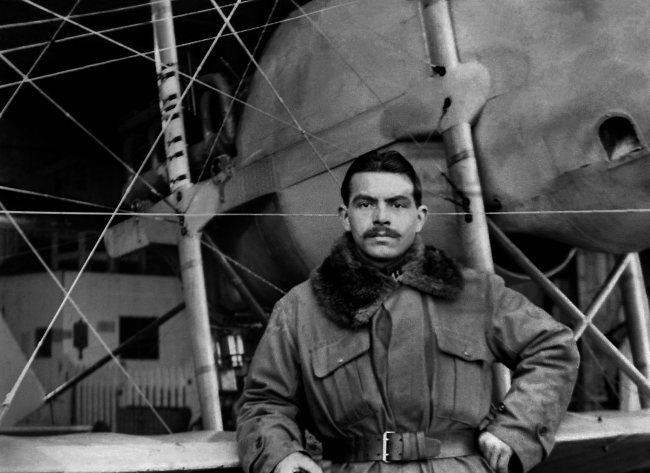 Unknown photographer. 'Untitled [Early French aviator]' c. 1913-14