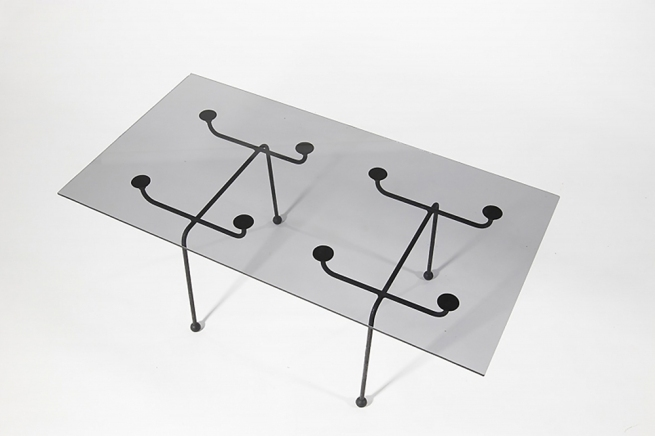 Clement Meadmore (Australian, 1929-2005) 'Glass top coffee table' 1952