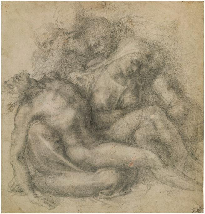 Michelangelo Buonarroti. 'The Lamentation over the Dead Christ' c. 1540
