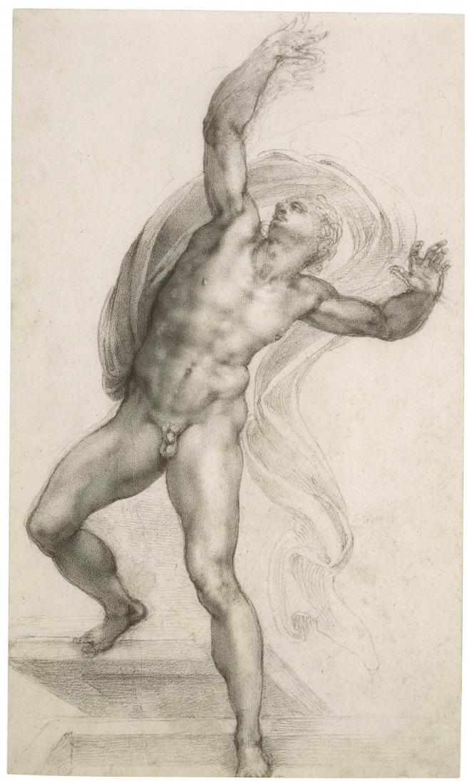 Michelangelo Buonarroti. 'The Risen Christ' c. 1532-3