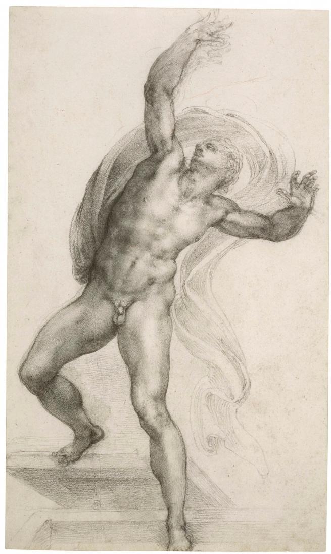 Michelangelo Buonarroti. 'The Risen Christ' c. 1532-3