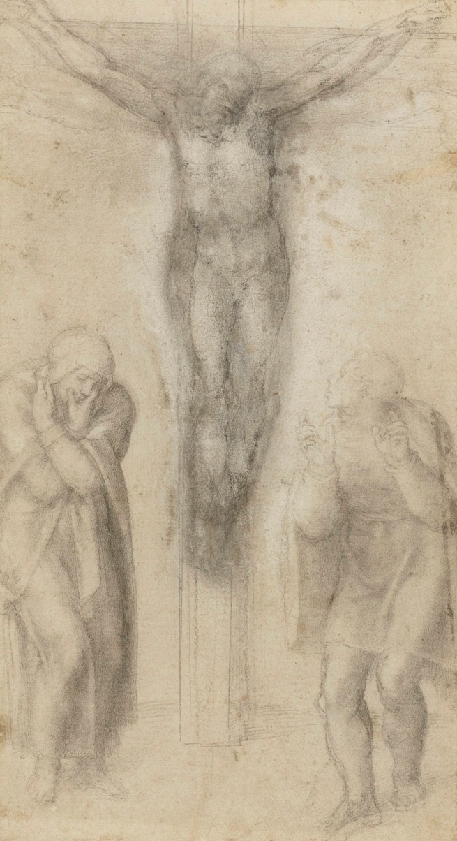 Michelangelo Buonarroti (Italian, 1475-1564) 'Christ on the Cross with the Virgin and St John' c. 1560-64